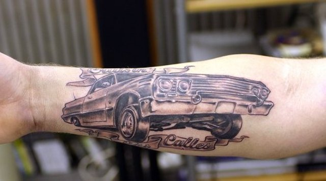Cool tattoo on the forearm
