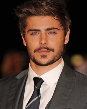 #4 - Zac Efron Vintage-inspired Hair
