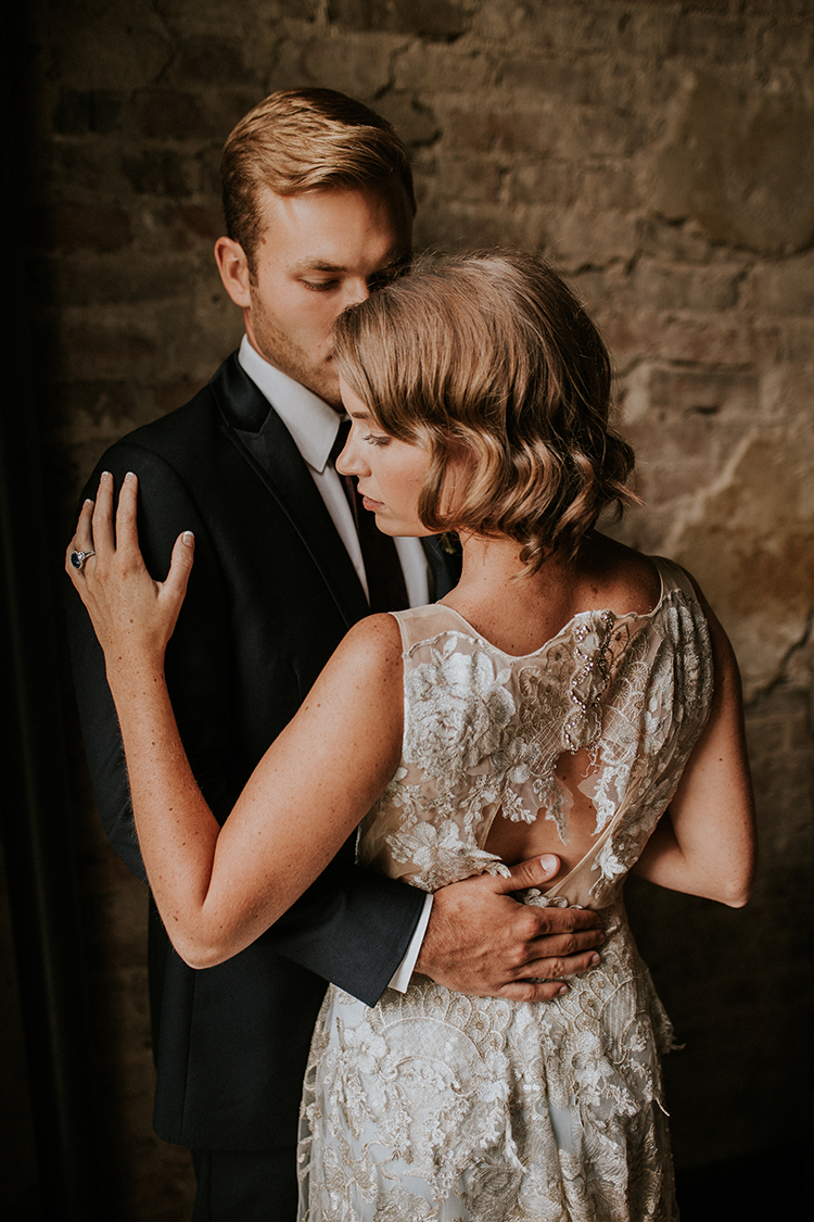 vintage inspired wedding fashion - http://ruffledblog.com/artist-inspired-wedding-ideas-with-oxblood-and-navy