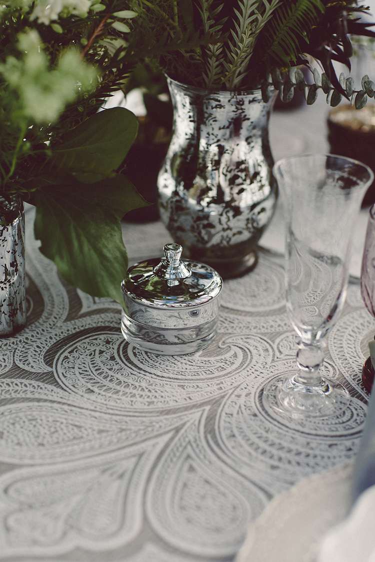 wedding tablescapes - photo by Lilly Red Creative http://ruffledblog.com/lake-tahoe-beach-wedding-inspiration