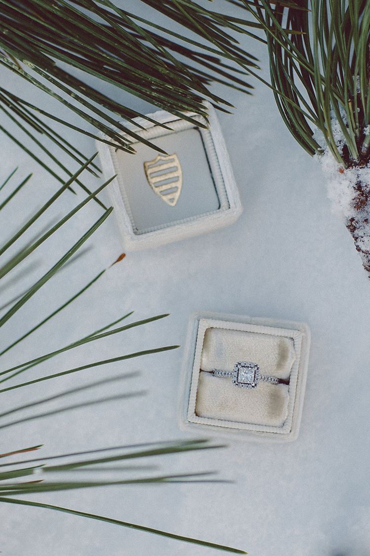 engagement rings - photo by Lilly Red Creative http://ruffledblog.com/lake-tahoe-beach-wedding-inspiration