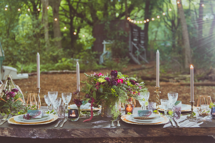 The wedding palette was rather natural, fall-inspired with greenery and burgundy touches