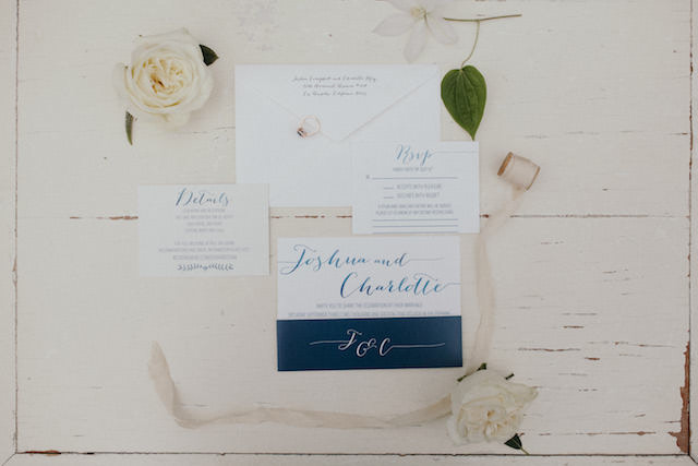 East coast Maryland wedding invitations