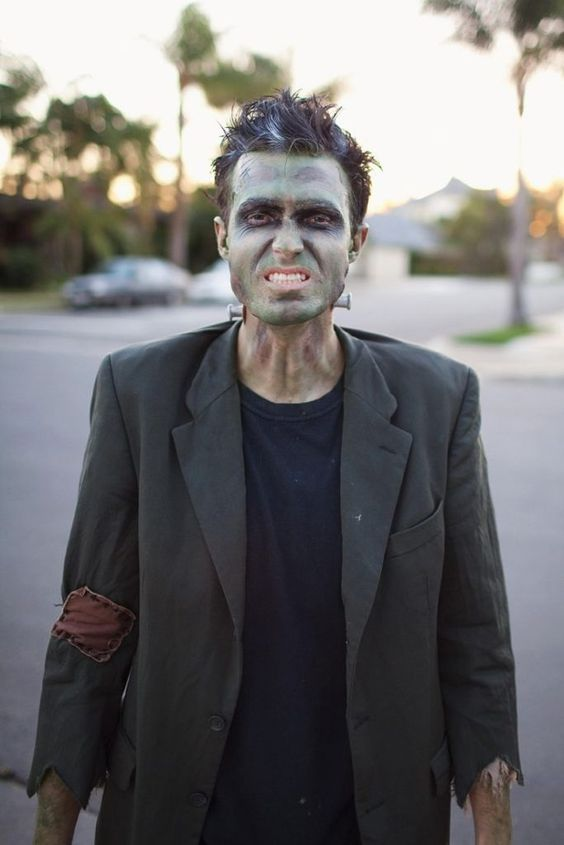 zombie makeup isn't difficult to recreate, you can make it yourself anytime