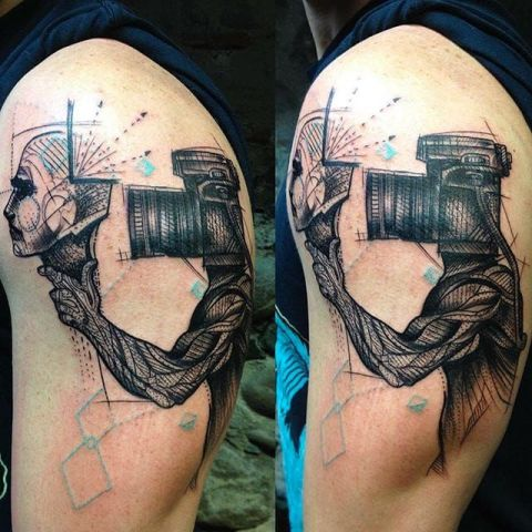 Unique tattoo idea on the arm