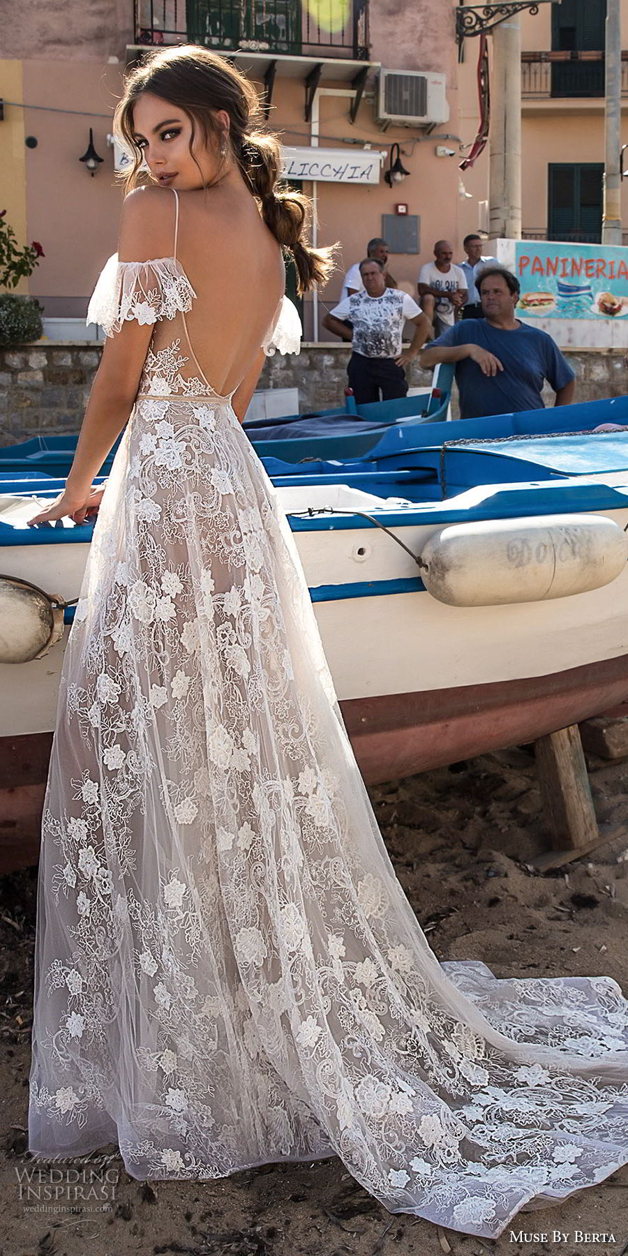 muse berta 2018 bridal spaghetti strap cold shoulder v neck full embellishment romantic soft a line wedding dress open back sweep train (14) bv