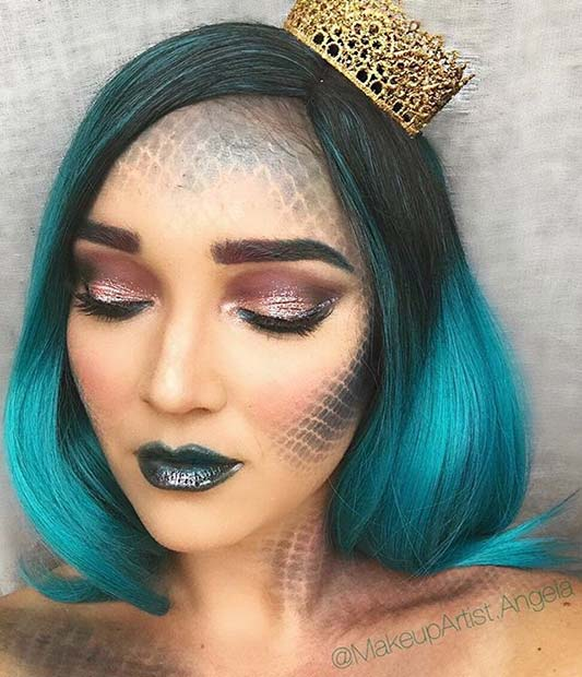 Mystical Mermaid Makeup for Creative DIY Halloween Makeup Ideas