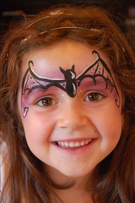 bat girl face paint to turn your daughter into a super heroine