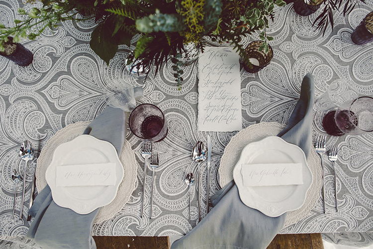 tablescapes - photo by Lilly Red Creative http://ruffledblog.com/lake-tahoe-beach-wedding-inspiration