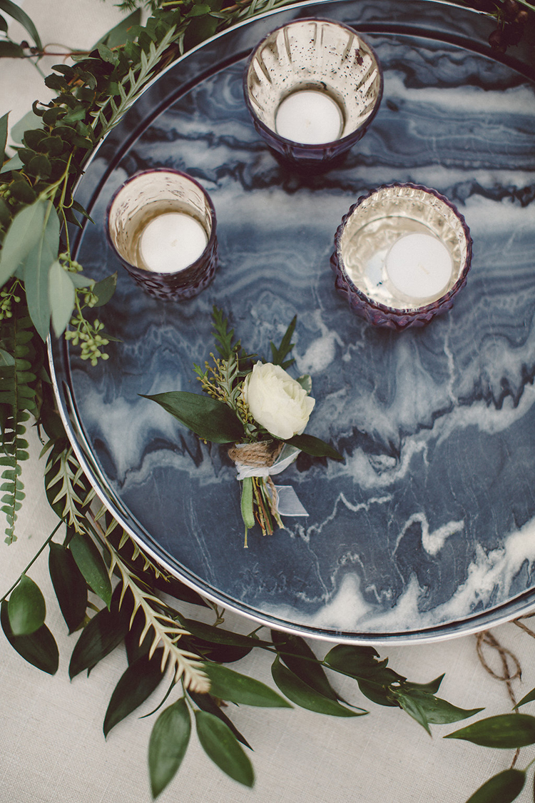 wedding decor - photo by Lilly Red Creative http://ruffledblog.com/lake-tahoe-beach-wedding-inspiration