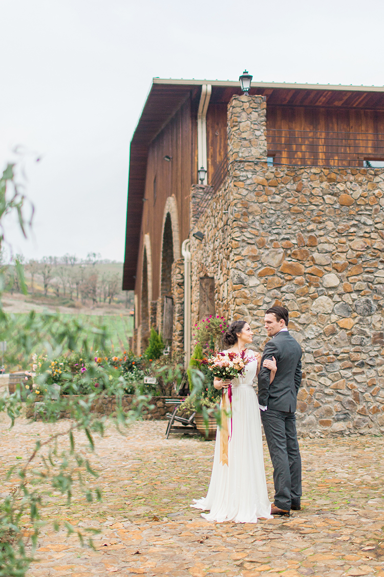 winery wedding inspiration - http://ruffledblog.com/winery-vow-renewal-inspiration-with-autumn-leaves