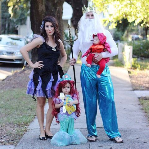 The Little Mermaid themed costumes