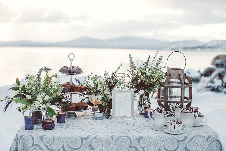 dessert tables - photo by Lilly Red Creative http://ruffledblog.com/lake-tahoe-beach-wedding-inspiration