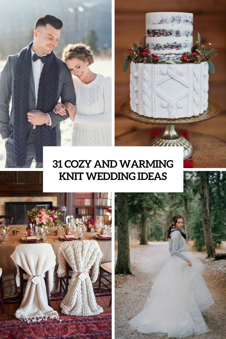 cozy and warming knit wedding ideas cover