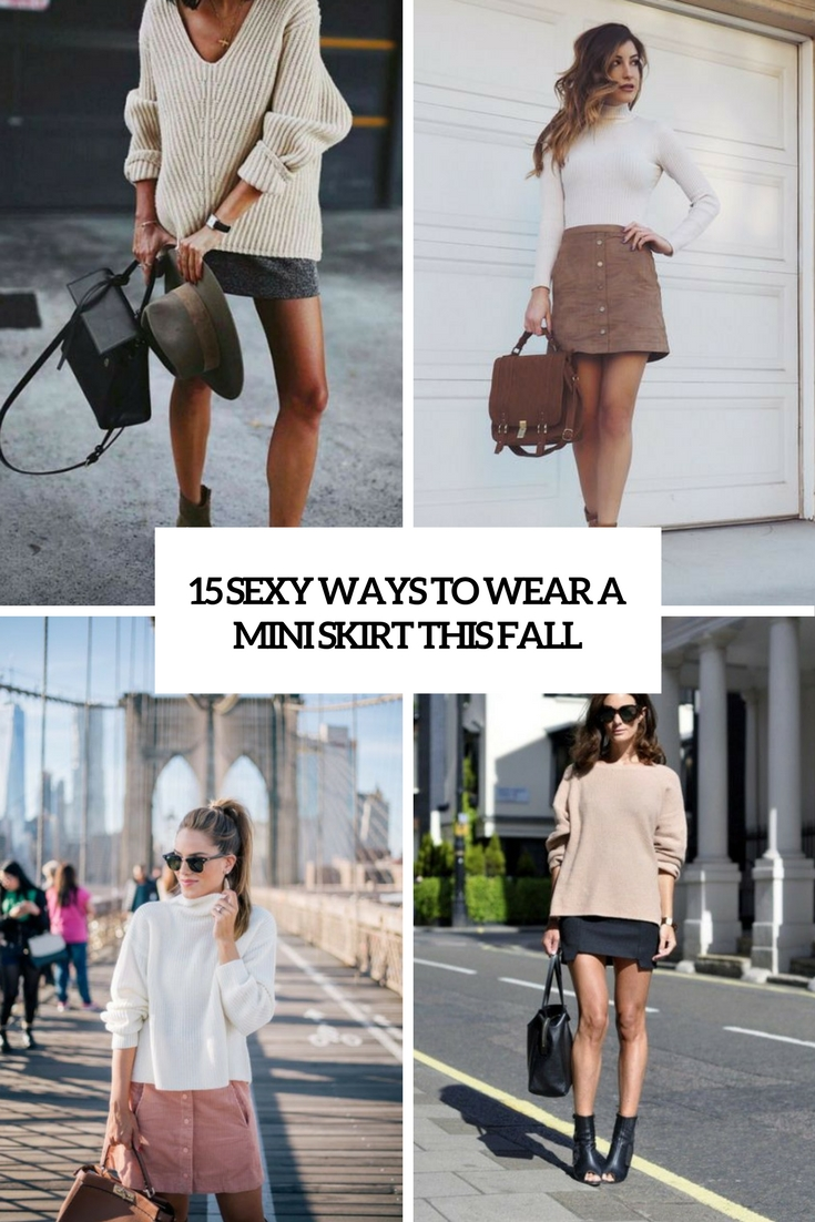 sexy ways to wear a mini skirt this fall cover