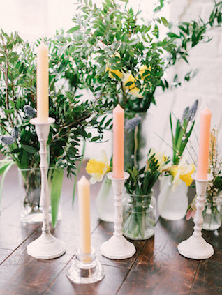 Spring colored candles