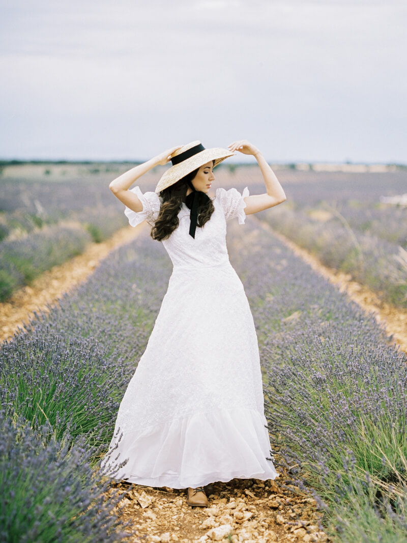 Fine Art Lavender Fields Wedding