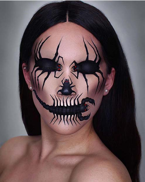 Creepy-Crawly Makeup for Unique Halloween Makeup Ideas to Try