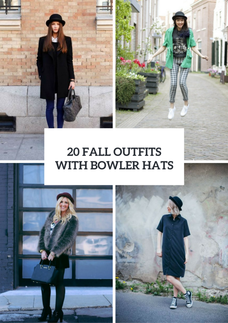 Fall Outfits With Bowler Hats