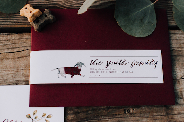 Dog themed wedding invitations