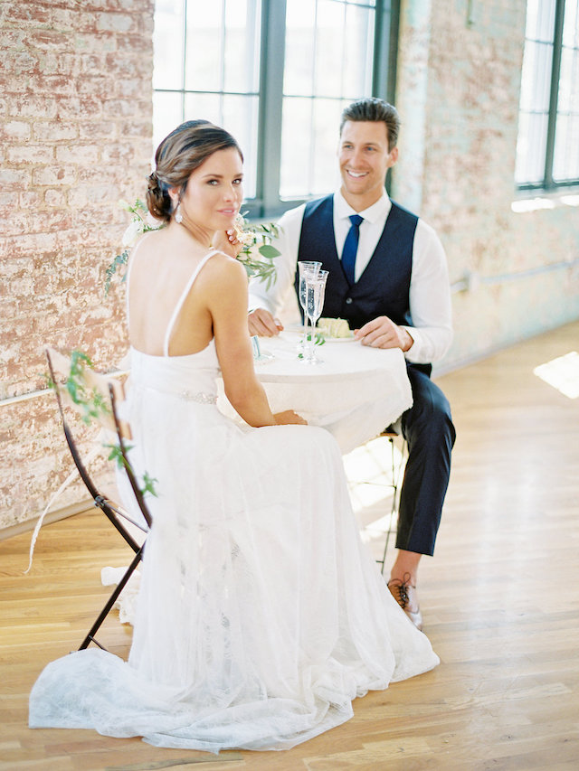 Bistro style sweetheart table