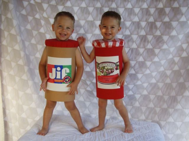 Two jars of jam costumes