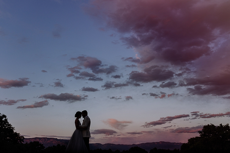 romantic wedding photography - http://ruffledblog.com/laid-back-los-poblanos-wedding-with-orange-bridesmaid-gowns