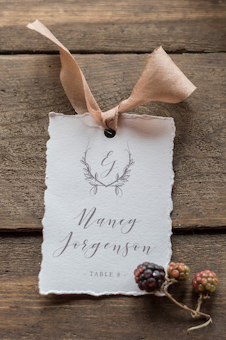 Calligraphy name cards