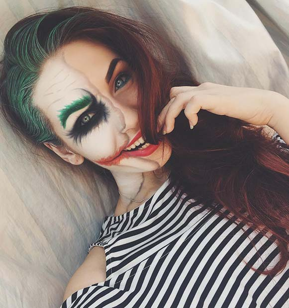 Joker Makeup Idea for Unique Halloween Makeup Ideas to Try