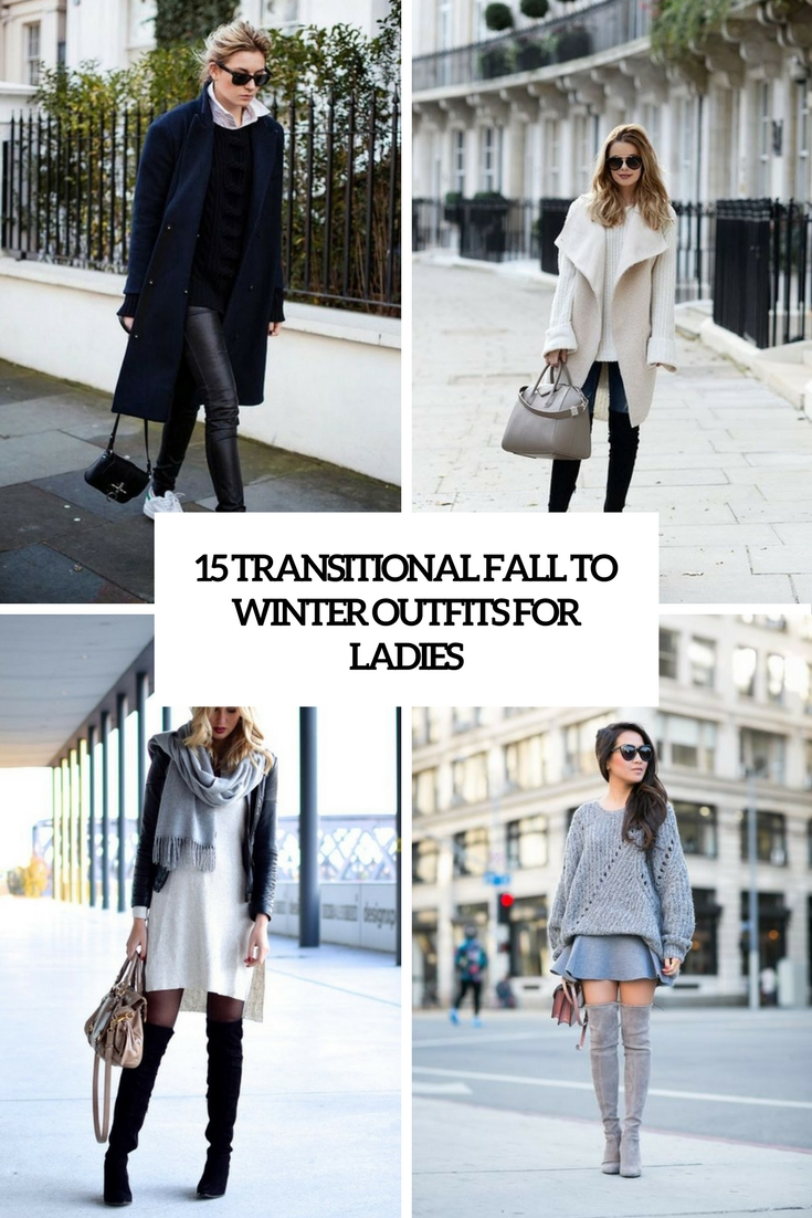 transitional fall to winter outfits for ladies cover