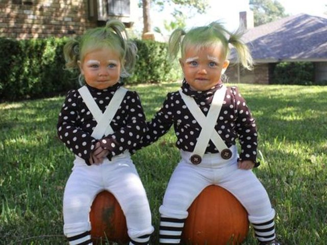 Oompa loompa costumes for twins