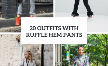 Awesome Outfits With Ruffle Hem Pants