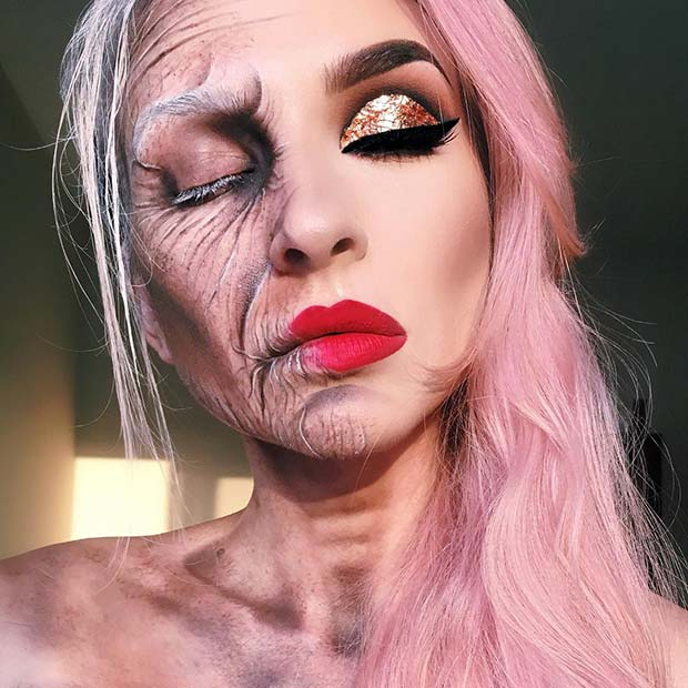 Battle with Age Makeup for Mind-Blowing Halloween Makeup Looks