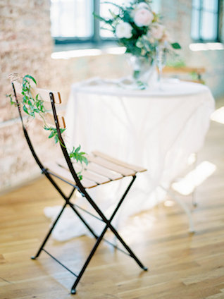 Greenery chair adornments