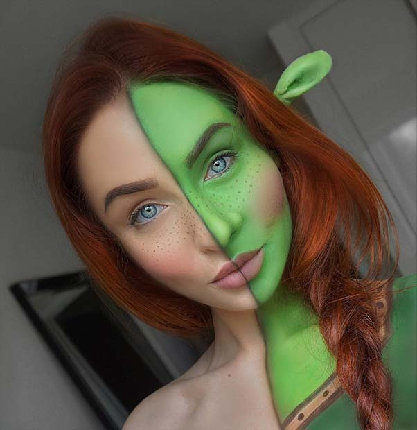 Fun Princess Fiona Makeup for Unique Halloween Makeup Ideas to Try