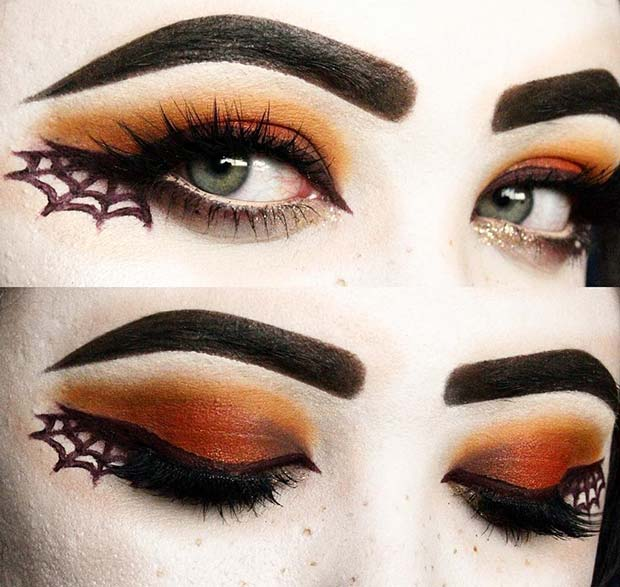 Spider Web Makeup for Easy, Last-Minute Halloween Makeup Looks
