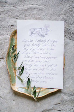Calligraphy love letter