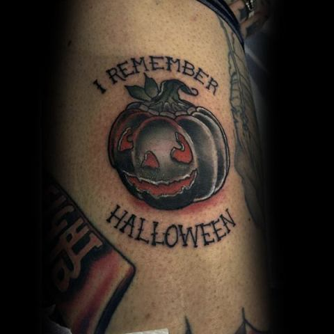 I remember Halloween tattoo