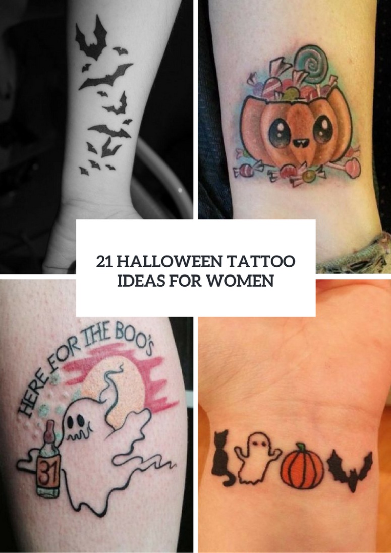 Eye Catching Halloween Tattoo Ideas For Ladies