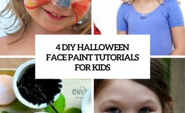 4 diy halloween face paint tutorials for kids cover