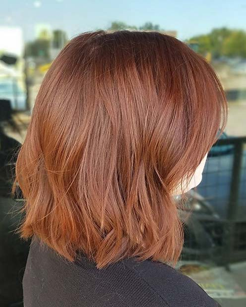 Ginger Lob for Lob Hairstyles for Fall and Winter