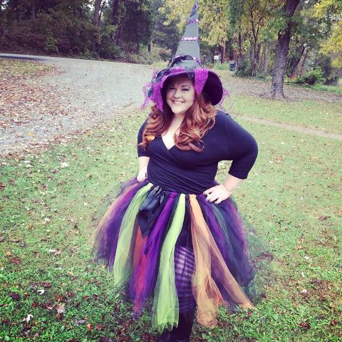 Super colorful witch outift
