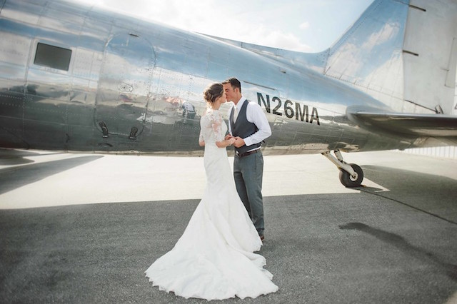 Vintage travel themed wedding