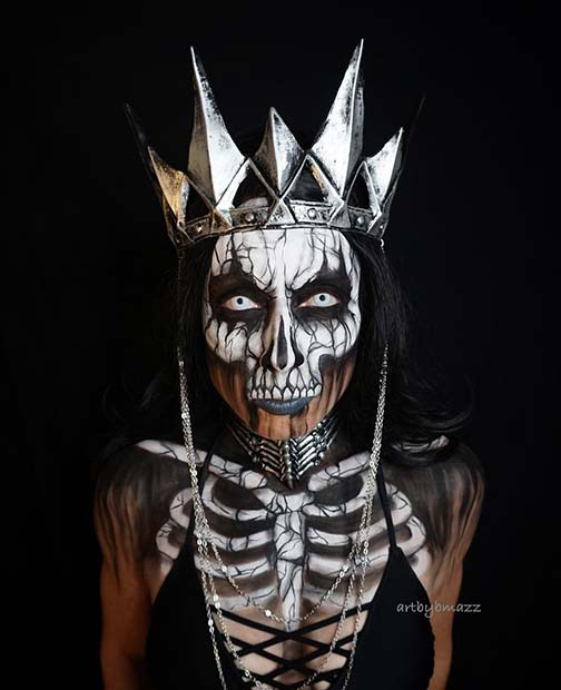 Skeleton Queen for Mind-Blowing Halloween Makeup Looks