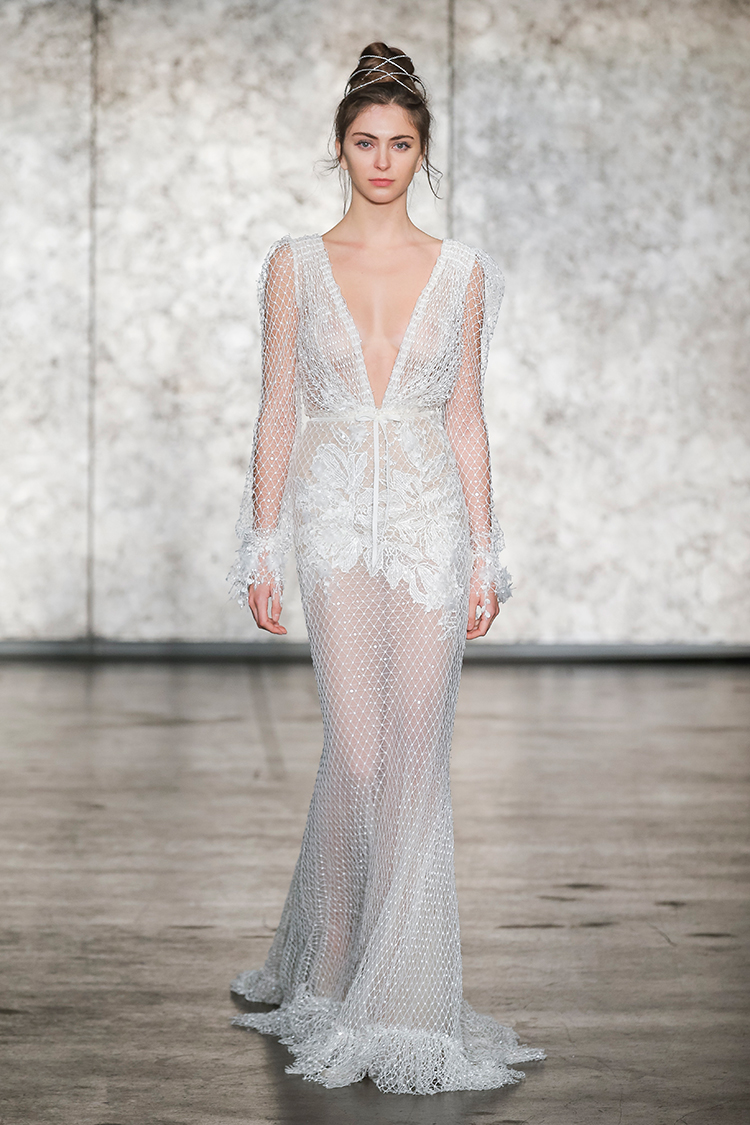 Inbal Dror Fall 2018 Bridal Collection - http://ruffledblog.com/inbal-dror-fall-2018-bridal-collection