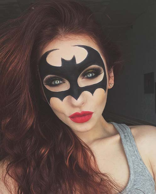 Batman Mask Makeup for Unique Halloween Makeup Ideas to Try