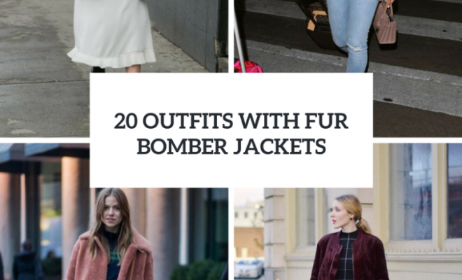 Feminine Outfits With Fur Bomber Jackets