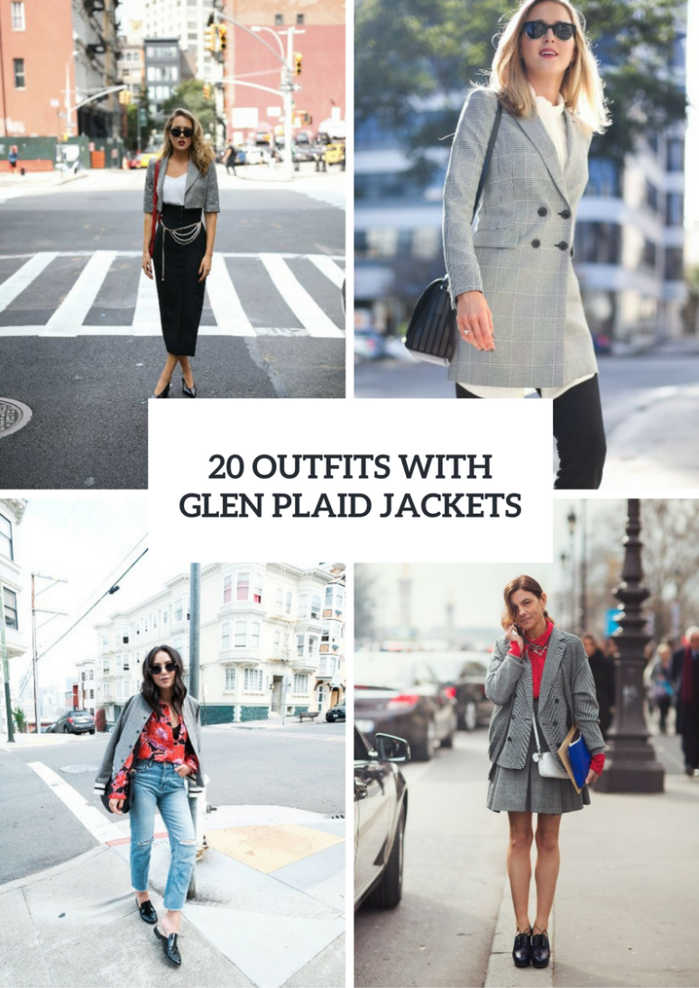 Glen Plaid Jacket Outfits For Women