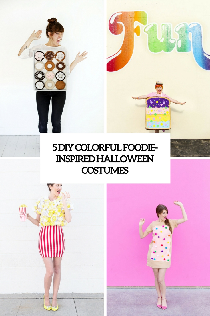 5 diy colorful foodie inspired halloween costumes cover