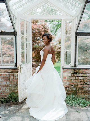 Garden-inspired bridal boudoir session with calligraphy love letters, maracons, and garden themed details
